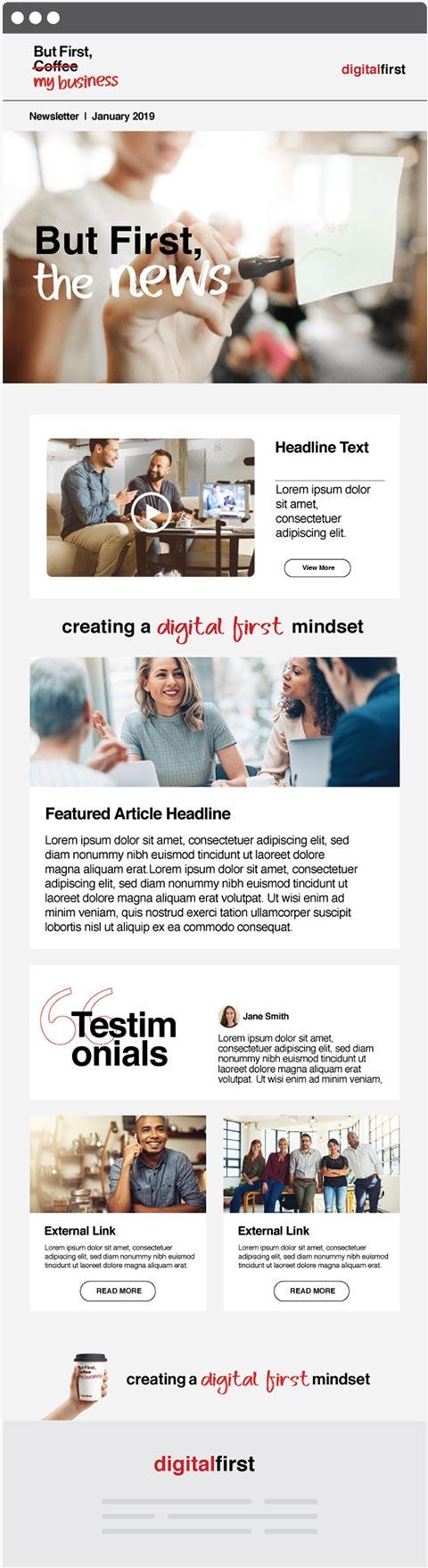 newsletter screen